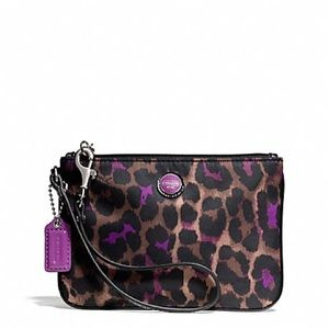 Coach Ocelot Print Small Wristlet New Without Tags
